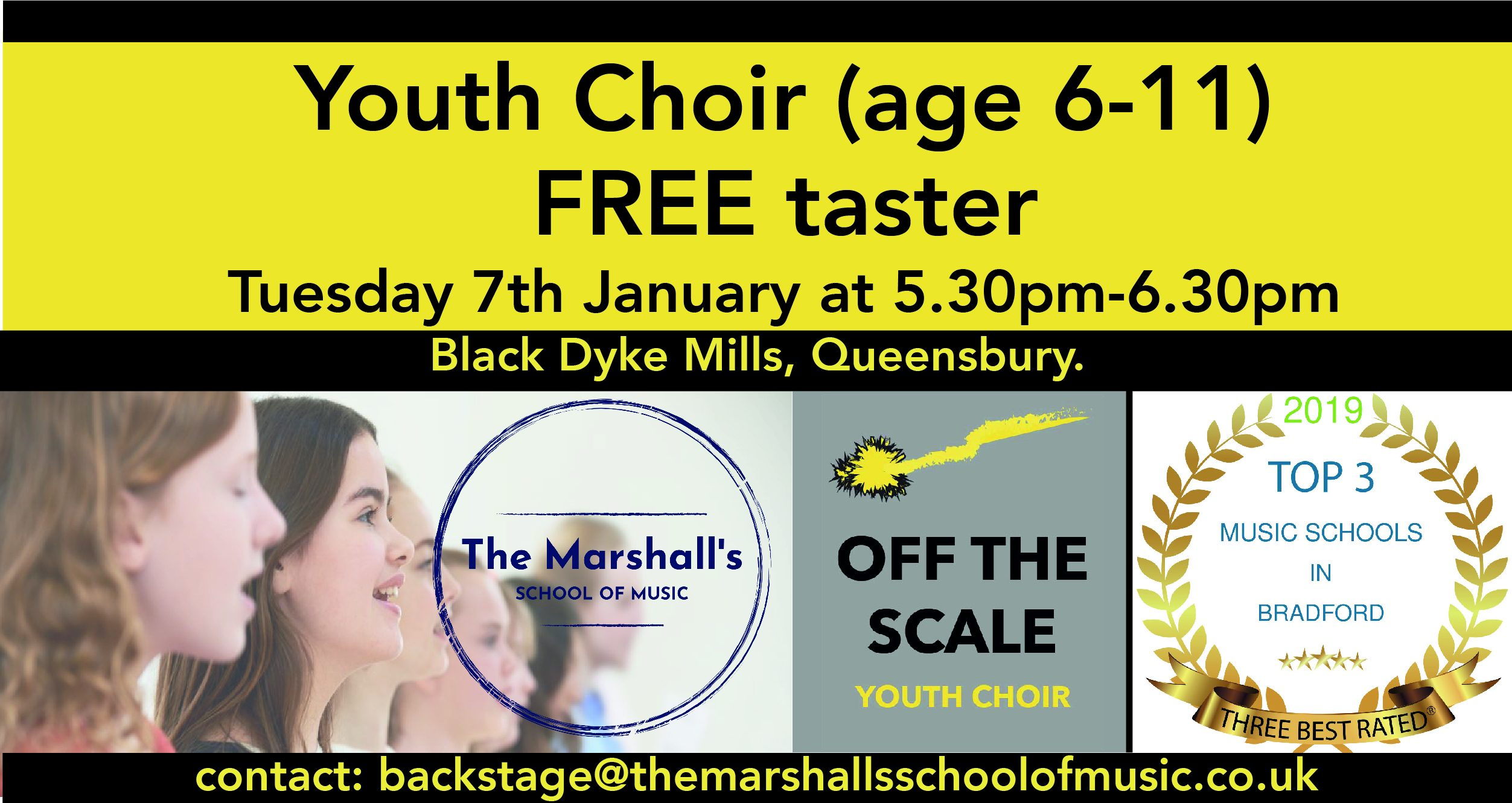 Poster for a Youth Choir in Bradford